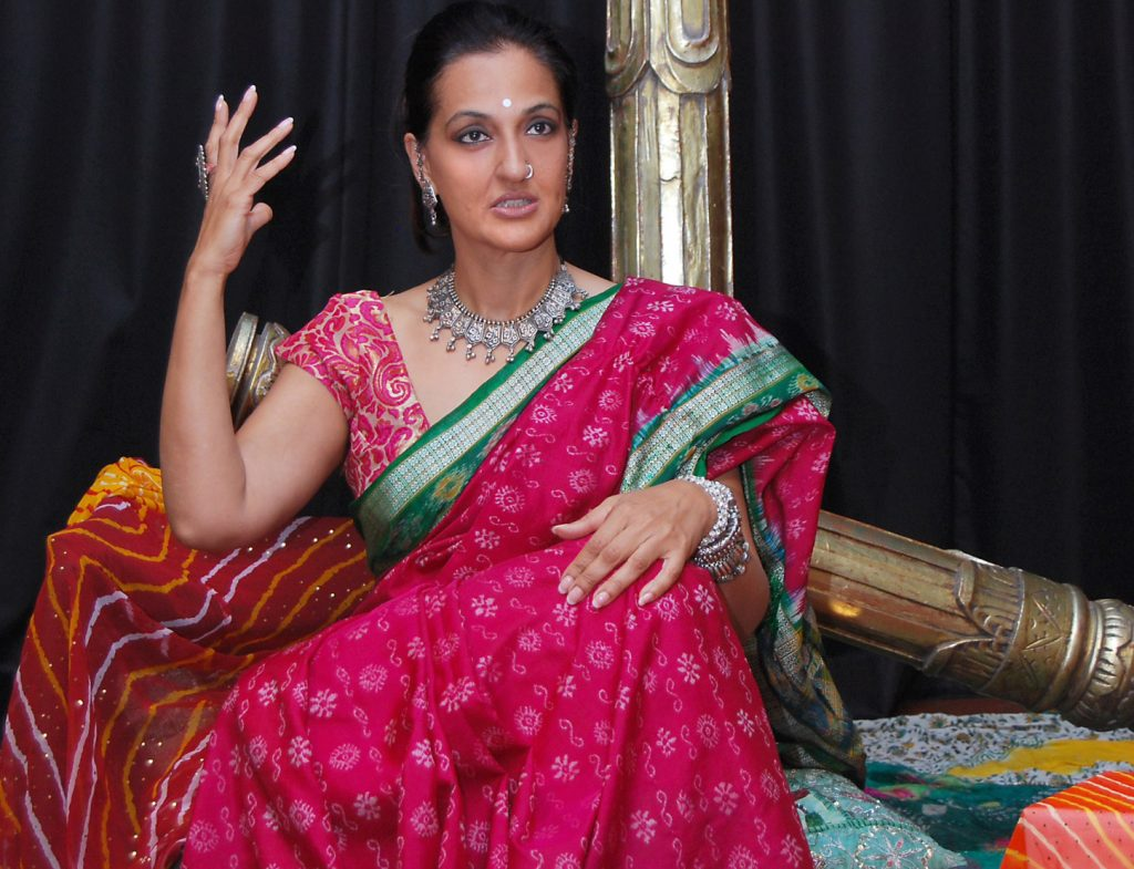Image of Seema Anand, poised for Indian Storytelling