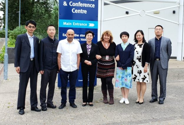 Photo of group of people, part of the Chinese delegation who visited Essex in 2018