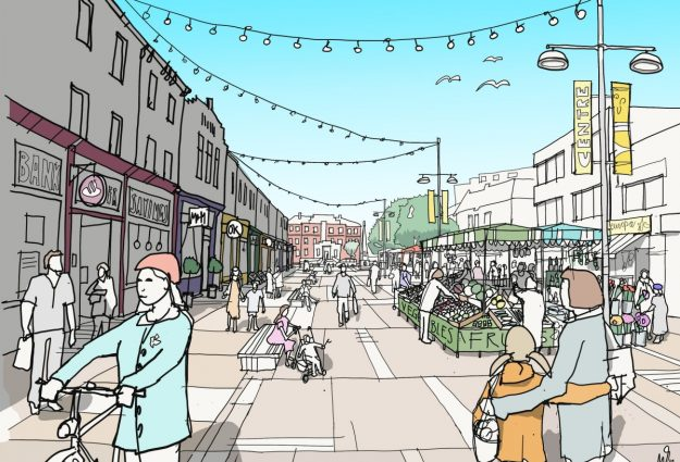 Grays Local Plan - an artist's impression of Grays' High Street